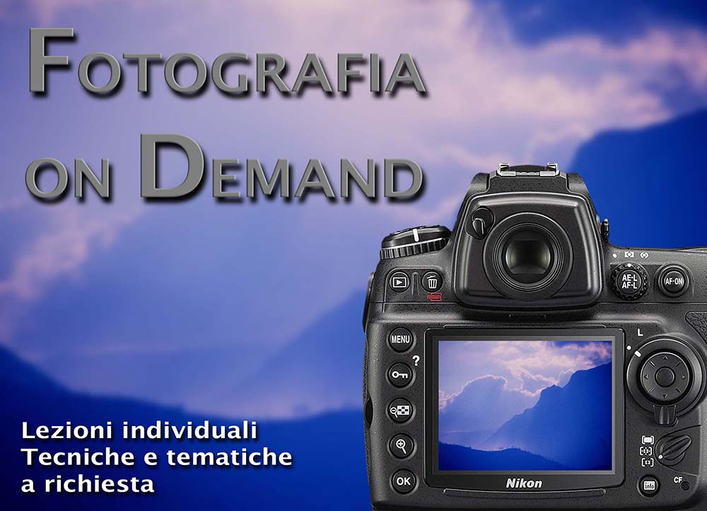FOTOGRAFIA ON DEMAND – Lezioni individuali