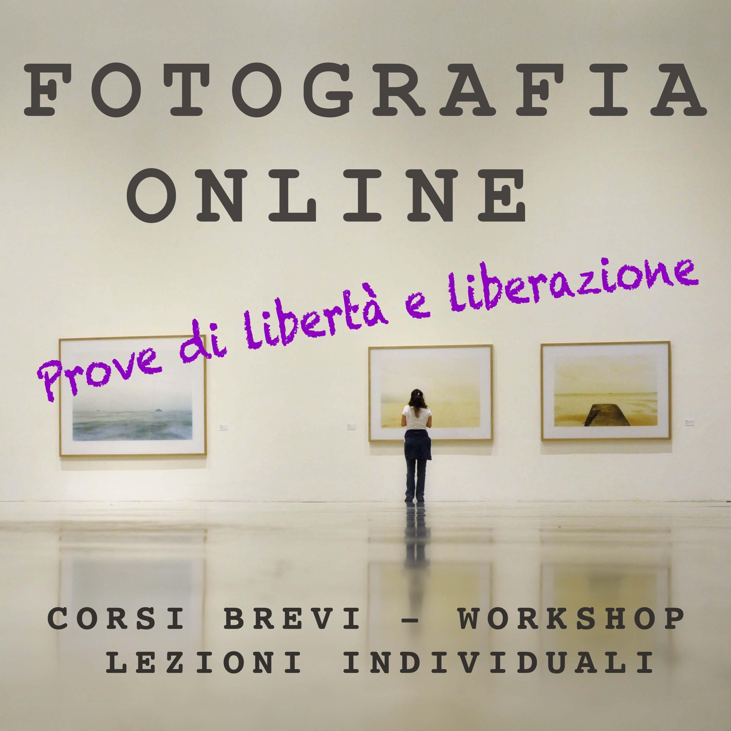 WORKSHOP BREVI DI FOTOGRAFIA ONLINE